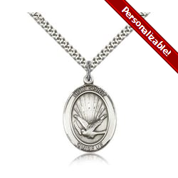 Sterling Silver Holy Spirit Pendant w/ chain
