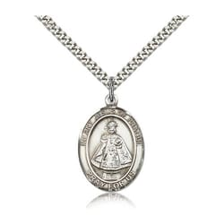 Sterling Silver Infant of Prague Pendant w/ chain
