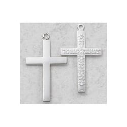 Sterling Silver Lord's Prayer Cross on 24 inch Chain