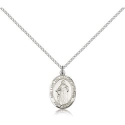 Sterling Silver Our Lady Of Knots Pendant w/ Chain