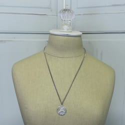 Sterling Silver Scapular Medal on 24 inch chain