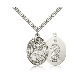 Sterling Silver Scapular Pendant w/ chain