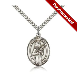 Sterling Silver St. Agatha Pendant w/ chain