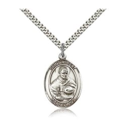 Sterling Silver St. Albert the Great Pendant w/ chain