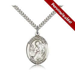 Sterling Silver St. Alphonsus Pendant w/ chain