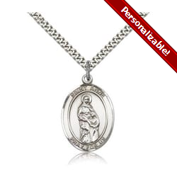 Sterling Silver St. Anne Pendant w/ chain