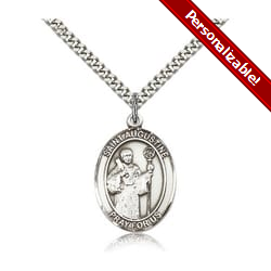 Sterling Silver St. Augustine Pendant w/ chain