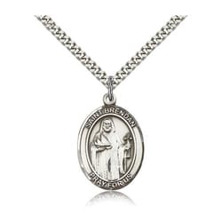 Sterling Silver St. Brendan the Navigator Pendant w/ chain