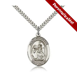 Sterling Silver St. Catherine of Siena Pendant w/ chain