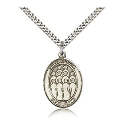 Sterling Silver St. Cecilia / Choir Pendant w/ chain