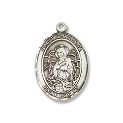 Sterling Silver St. Christina the Astonishing Pendant w/ Chain