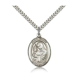 Sterling Silver St. Clare of Assisi Pendant w/ chain