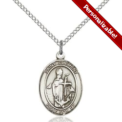 Sterling Silver St. Clement Pendant w/ Chain