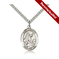 Sterling Silver St. Colette Pendant w/ chain