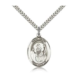 Sterling Silver St. David of Wales Pendant w/ chain