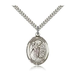 Sterling Silver St. Fiacre Pendant w/ chain