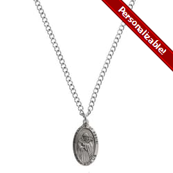 Sterling Silver St. Francis Medal with 24 inch chain
