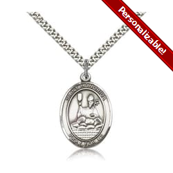 Sterling Silver St. Honorius Pendant w/ chain
