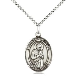 Sterling Silver St. Isaac Jogues Pendant w/ Chain