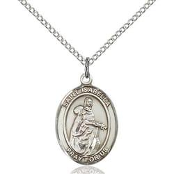 Sterling Silver St. Isabella of Portugal Pendant w/ Chain
