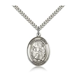 Sterling Silver St. James the Greater Pendant w/ chain