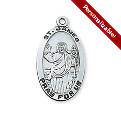 Sterling Silver St. James the Greater Medal