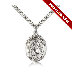Sterling Silver St. John the Baptist Pendant w/ chain