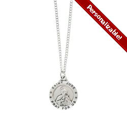 Sterling Silver St. Jude Medal with 18 inch chain