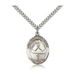 Sterling Silver St. Katharine Drexel Pendant w/ chain