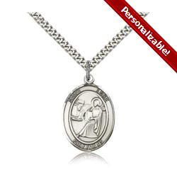Sterling Silver St. Luke the Apostle Pendant w/ chain