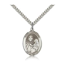 Sterling Silver St. Margaret Mary Alacoque Pendant w/ chain