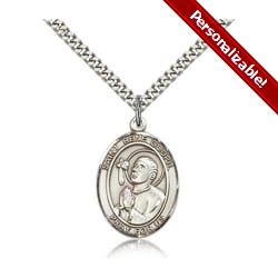 Sterling Silver St. Rene Goupil Pendant w/ chain