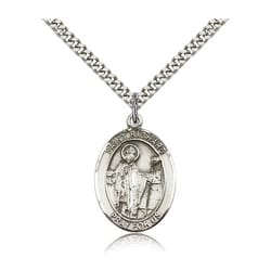 Sterling Silver St. Richard Pendant w/ chain