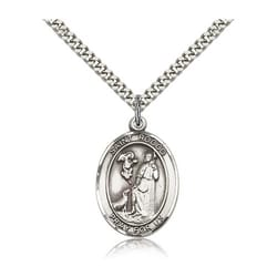 Sterling Silver St. Rocco Pendant w/ chain