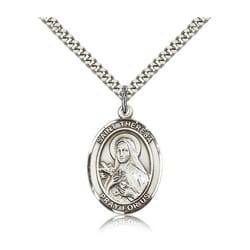 Sterling Silver St. Theresa of Lisieux Pendant w/ chain