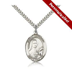 Sterling Silver St. Therese of Lisieux Pendant w/ chain