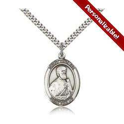 Sterling Silver St. Thomas the Apostle Pendant w/ chain