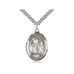 Sterling Silver St. Valentine of Rome Pendant w/ 24 inch  chain