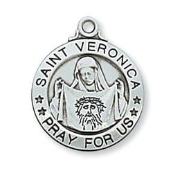 Sterling Silver St. Veronica Medal