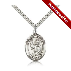 Sterling Silver St. Vincent Ferrer Pendant w/ chain