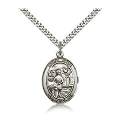 Sterling Silver St. Vitus Pendant w/ chain