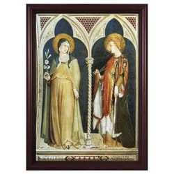 Sts. Clare and Elizabeth w/ Cherry Frame