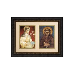 Sts. Francis and Clare, Matted, w/ Dark Ornate Frame (13x18)
