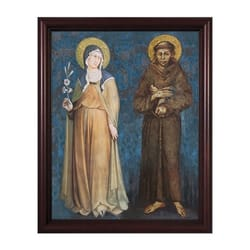 Sts. Francis and Clare w/ Cherry Frame