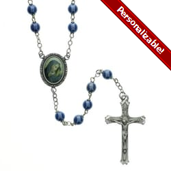 Teal Our Lady of Sorrows Image ROSARY - 7mm