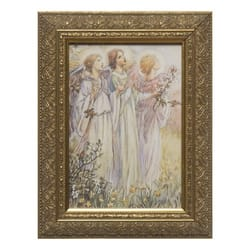 Three Angels by M.C. Barker w/ Gold Frame (5.5x8.5)