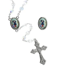 Virgin Mary Untier of Knots Silver Rosary