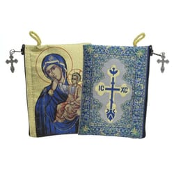 Virgin of Tenderness Rosary Icon Pouch