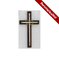 Wedding Cana Cross - Cherry Wood 6.5 inch