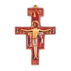 Wood San Damiano Cross, flat